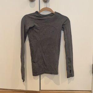 Grey lululemon long sleeve